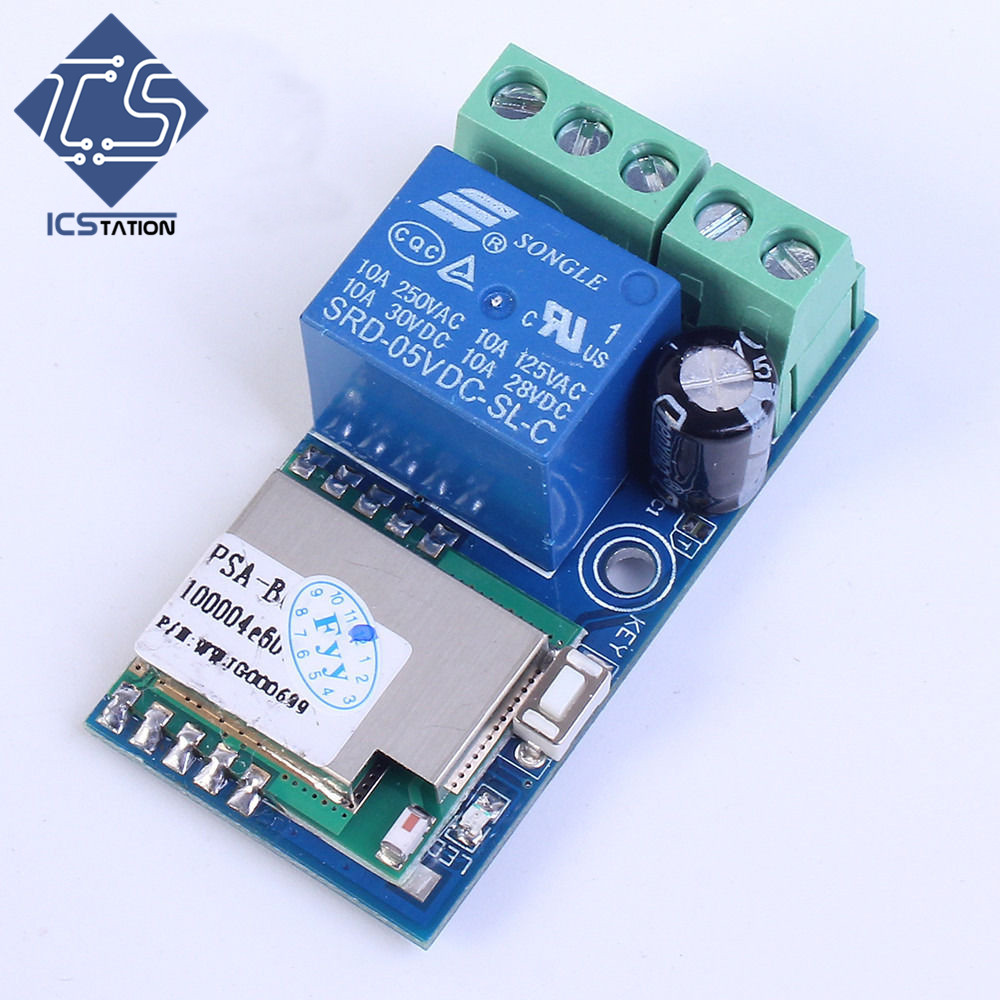 Low Power Wifi Relay Switch Module Self-Lock Mode DC 12V 5.2x2.8x2cm For Smart Home PSA Mobile Phone Remote Controlling fused 4 dpdt 5a power relay interface module g2r 2 12v dc relay