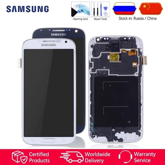 Pantalla LCD Para SAMSUNG Galaxy S4 GT-i9505 i9500 i9505 Display Cristal Táctil digitalizador Con Marco Completa Original Blanco