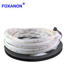 Foxanon Brand 3014 RGB LED Strip 5 m Flexibele licht DC 12 v 54Led/m Waterdichte LED Strip Beter helder Dan 3528 5 m/Roll(China)