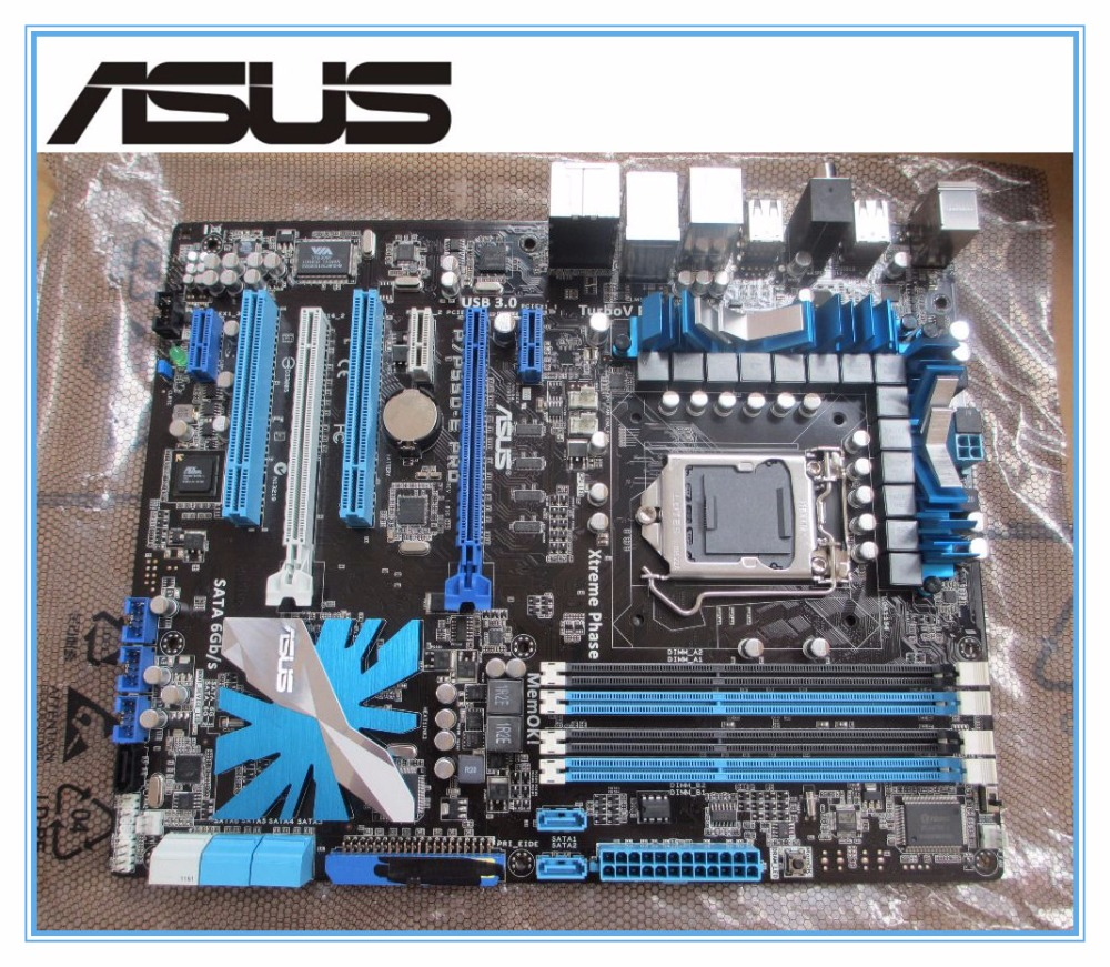 original motherboard ASUS P7P55D-E Pro DDR3 LGA 1156 boards DVI 16GB P55 Desktop motherborad Free shipping куртка утепленная name it name it na020egule62
