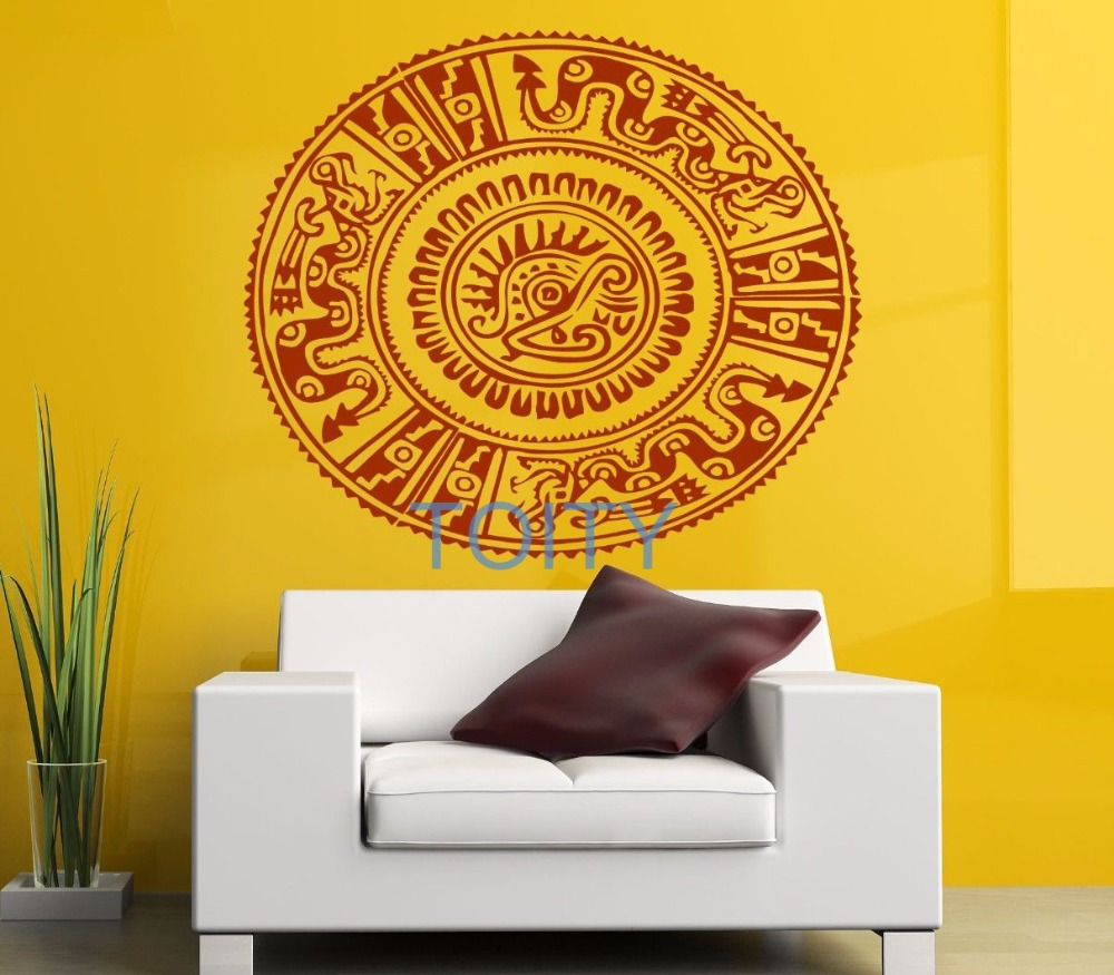 Aztec Native Wall Sticker Tribal Mandala Vinyl Decal Pattern Room ...