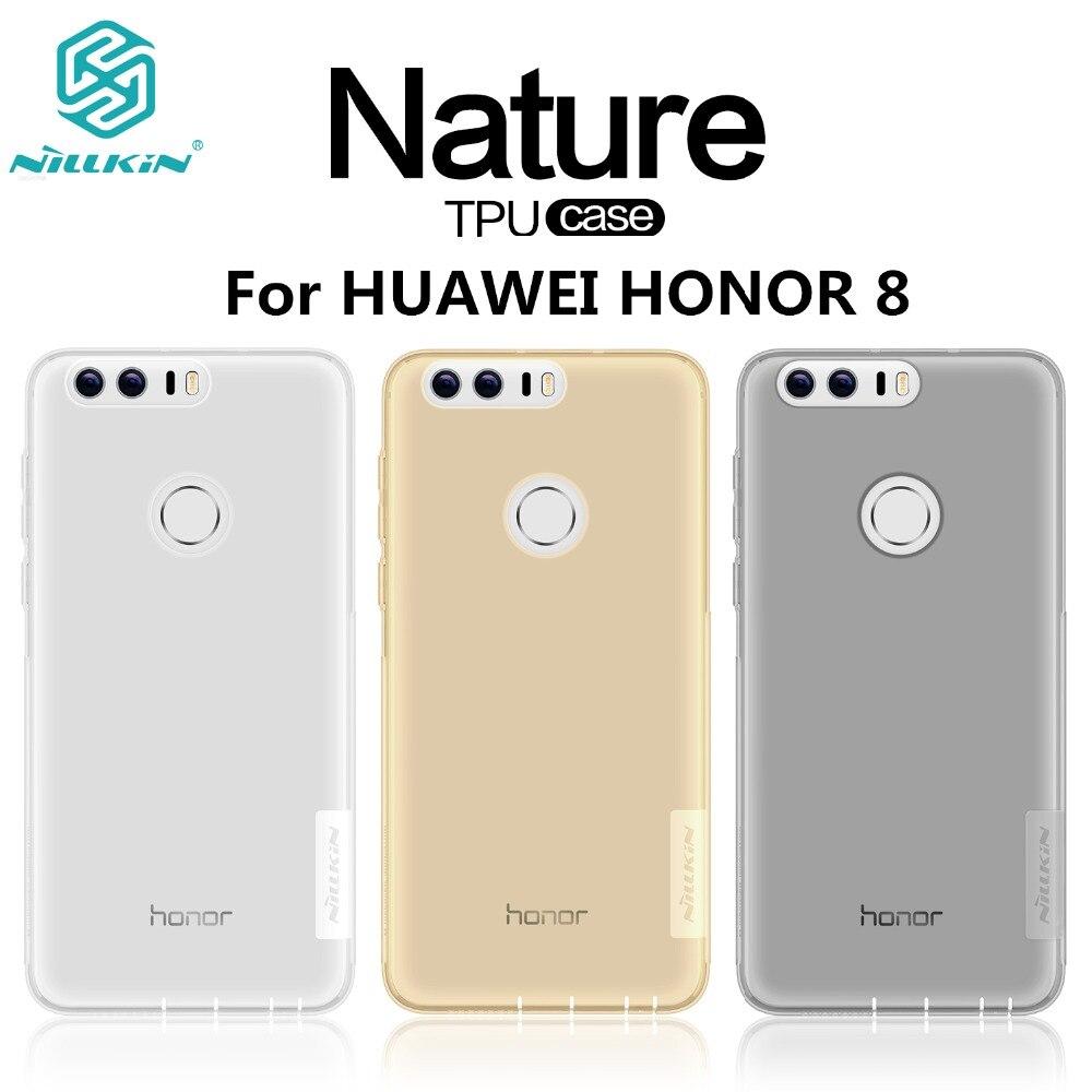 imágenes para Huawei honor 8 caso marca nillkin naturaleza tpu transparente cajas del teléfono móvil de la contraportada para huawei honor 8