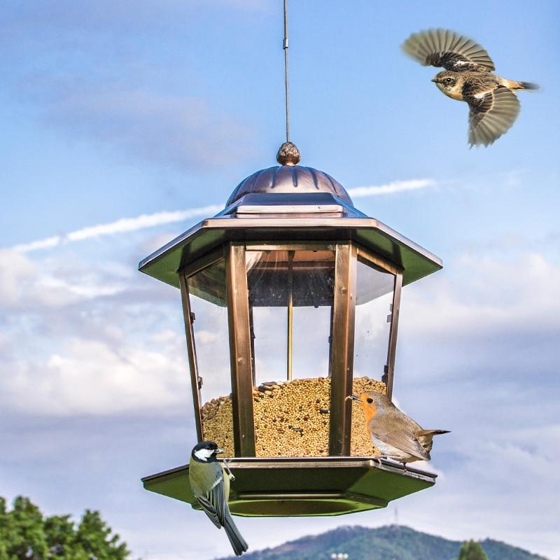 Mangeoire pour oiseaux sauvages Style européen Tube extérieur mangeoire pour oiseaux s récipient de nourriture pour la maison balcon accrocher Pet