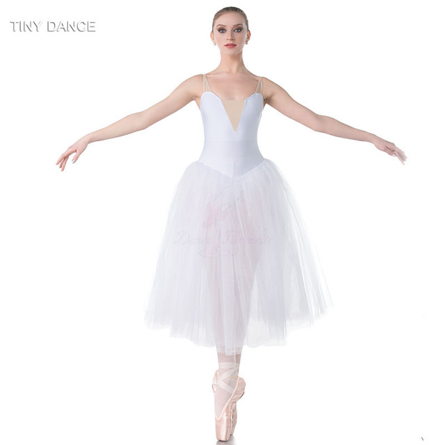 b19a0b943e83 Child and Adult Ballet Dance Costume Camisole White Long Romantic ...