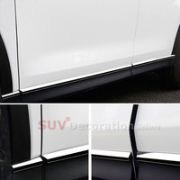 Stainless Steel Car Styling Accessories CAR Auto Side Body Molding Cover Trim 8pcs For Mazda CX
