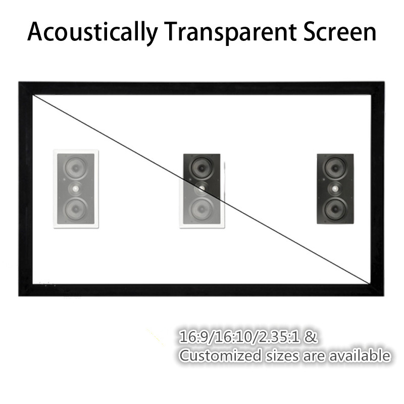 F1HWAW  Homecinema 16:9 HDTV 4K White Woven Acoustic transparent Sound acoustically Fixed frame projection projector screenF1HWAW  Homecinema 16:9 HDTV 4K White Woven Acoustic transparent Sound acoustically Fixed frame projection projector screen