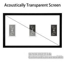 F1HWAW Homecinema 16:9 HDTV К 4 к белый тканые акустическая прозрачный звук акустически фиксированной рамки проецирования проектор экран