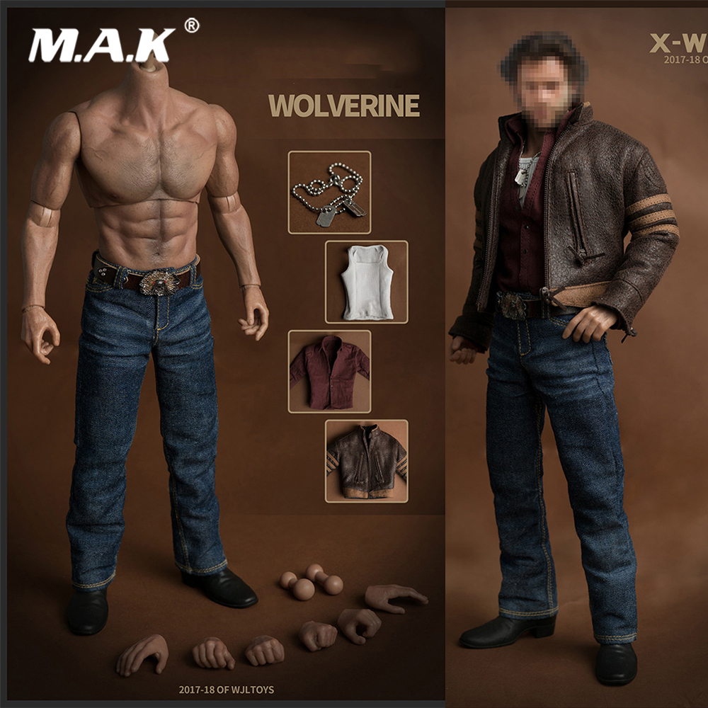 1/6 Scale Figure Clothes Accessory Wolverine Logan Suit Hugh Jackman Clothes Set with Muscle Body for 1:6 Figure Head Sculpt