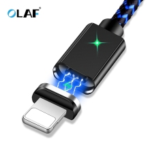 OLAF Magnetic Usb Cable For Iphone Cable 8 7 6 Plus 5s Se X