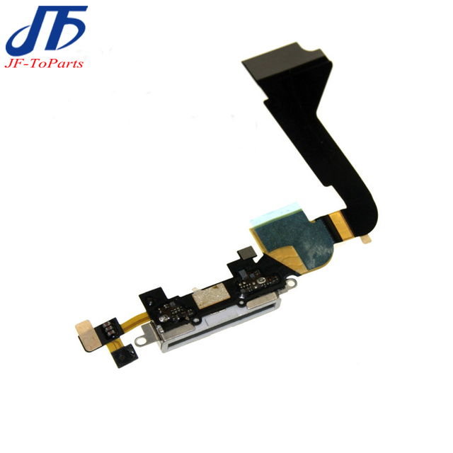 10pcs New Dock Connector Charging Port Flex Cable for iPhone 4 4g CDMA 4s Mobile Phone Charger Flex Cables Replacement parts