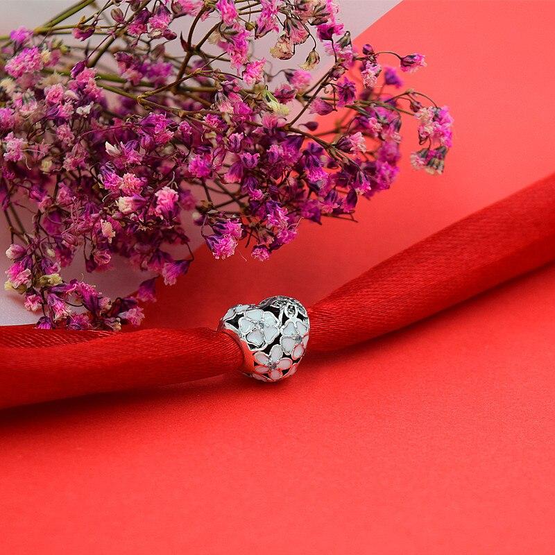 smyckeskapning Handgjorda blommor diy pärlor Passar pulseira pandora - Märkessmycken - Foto 3