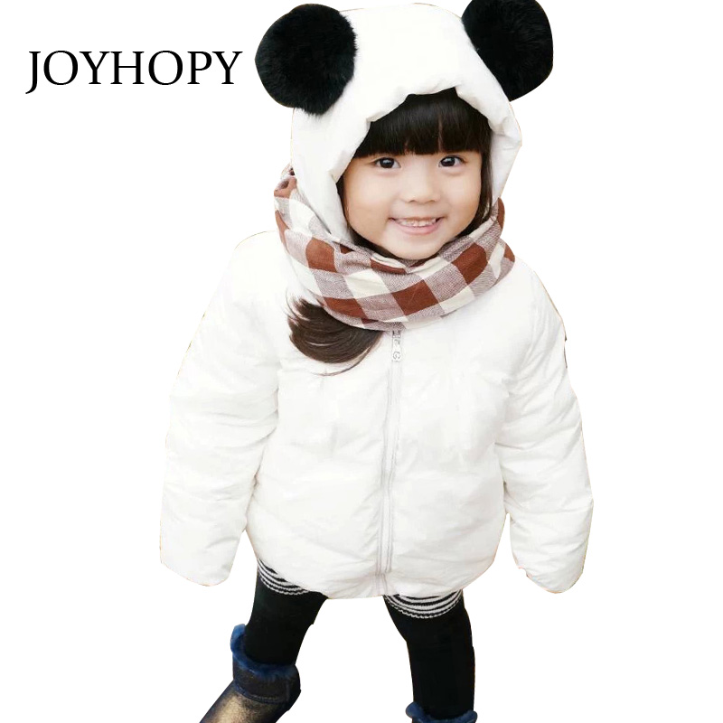 New Winter Jackets Kids Hooded Coats Thick 1-7Y Cute Panda Children's Warm Parkas Baby clothes for Girls&Boys