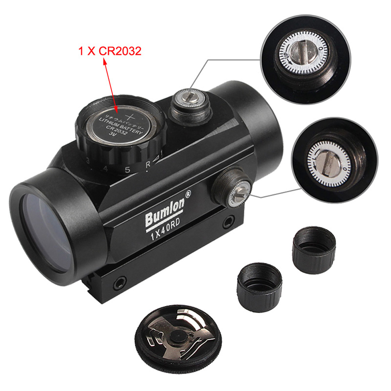 Holographic 1 x 40mm Airsoft Red Green Dot Sight RL5-0013-08