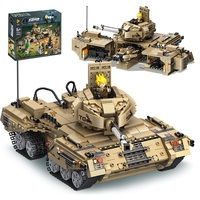 Building Blocks Bricks Compatible Legoe toys for Childrens Military Tank chariot Car Model transformation gift 1435Pcs