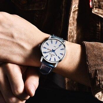 BENYAR 2018 Nieuwe Mannen Horloge Luxe Top Merk Automatische Week Datum Militaire Mode Mannelijke Quartz Lederen Horloge Relogio Masculino