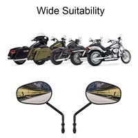 1 Pair Motorcycle Mirror Universal Motorbike Replacement Parts Rear View Mirrors On Sales Big Size Glass Motorcycle Accessories