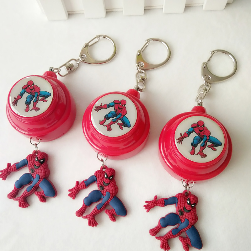 3pcs/pack spiderman protection alarm body guard personal security device for kids and women