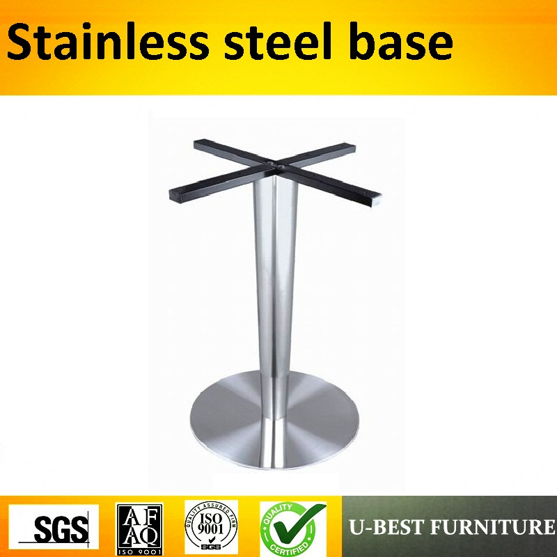 U-BEST hot sale stainless steel coffee table legs round dinning brushed table base stainless steel coffee table frame