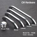 CW Hardware DECFAB 1043B Modern Chrome Cabinet Pulls 96mm 128mm 160mm 192mm Drawer Knobs Furniture Kitchen Door Handles