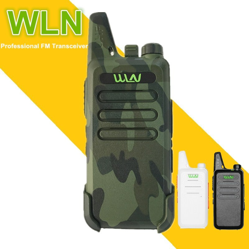 1PC WLN KD-C1 Mini Walkie Talkie UHF Ham CB Radio Station 5W Portable Hf Mobile Transceiver Telsiz Baofeng Woki Toki