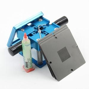 Image 4 - BGA fixtures 90x90 Reballing Station Reballing Bga Sik tin template solder paste soldering flux for Laptop Gameconsole