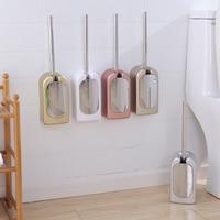 Upscale rose gold toilet brush holder Portable wc toilet cleaning tool set Bathroom Wall hanging Washroom Brush