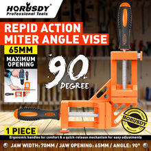 HORUSDY 90 Degree Right Angle Clamp Mitre Clamps Corner Holder Welding Wood-Working Aluminum Alloy Tool