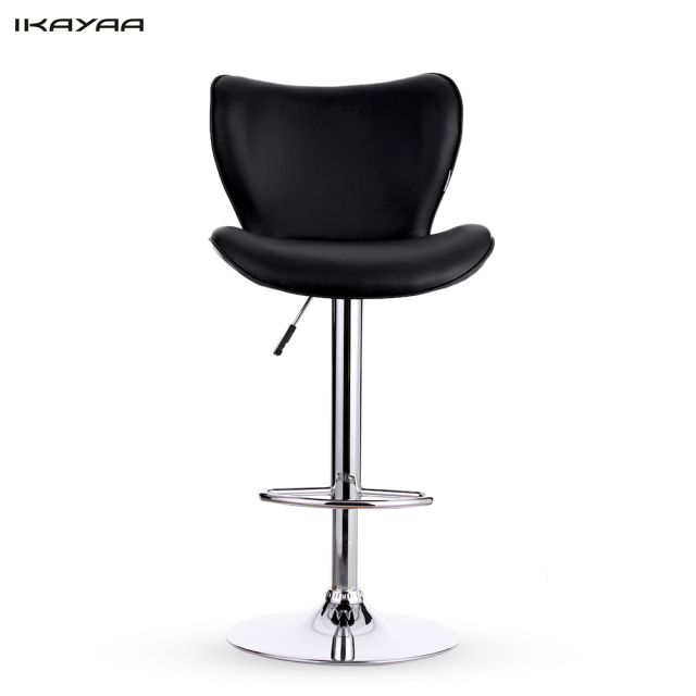 IKayaa US Stock 2PCS PU Leather Swivel Bar Stool Chair Height Adjustable  Pneumatic Counter Pub Chair