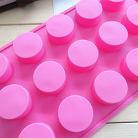 Profession 15 Even Cylindrical Round Bar Of Chocolate Molds Handmade Soap Cake Mold Jelly Cake
