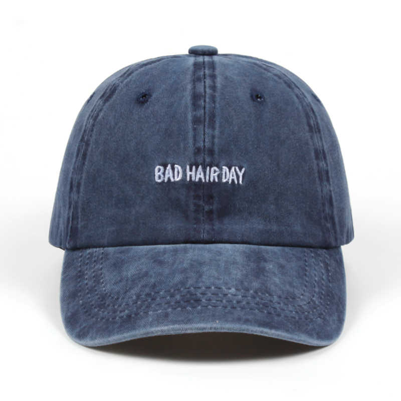 2018 Dad Hat Solid Washed Baseball Caps Women Men BAD HAIR DAY OOPS Letter  Embroidery Couple df0398d11