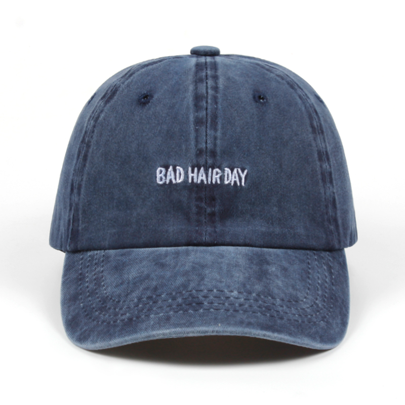 2018 Dad Hat Solid Washed Baseball Caps Women Men BAD HAIR DAY OOPS Letter Embroidery Couple golf Cap Trucker Hats