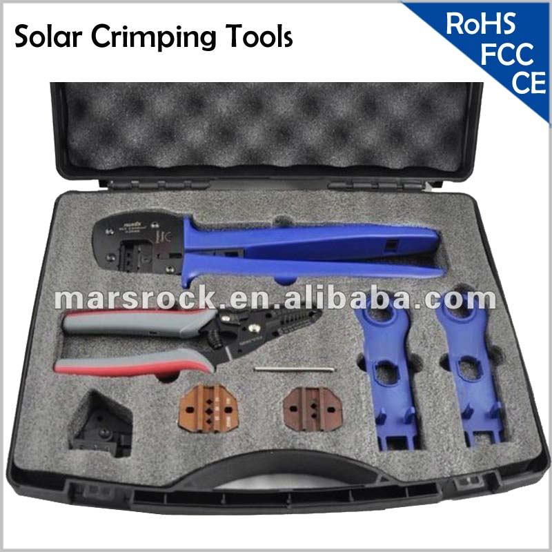 цена на Solar Crimping Tools/Solar PV Tool Kits for 2.5-6.0mm2 MC3/MC4/Tyco connectors with Crimping/Cutting/Stripping