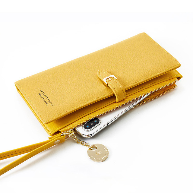 Women Long Wallet Many Departments Female Wallets Clutch Lady Purse Zipper Phone Pocket Card Holder Ladies Carteras 25