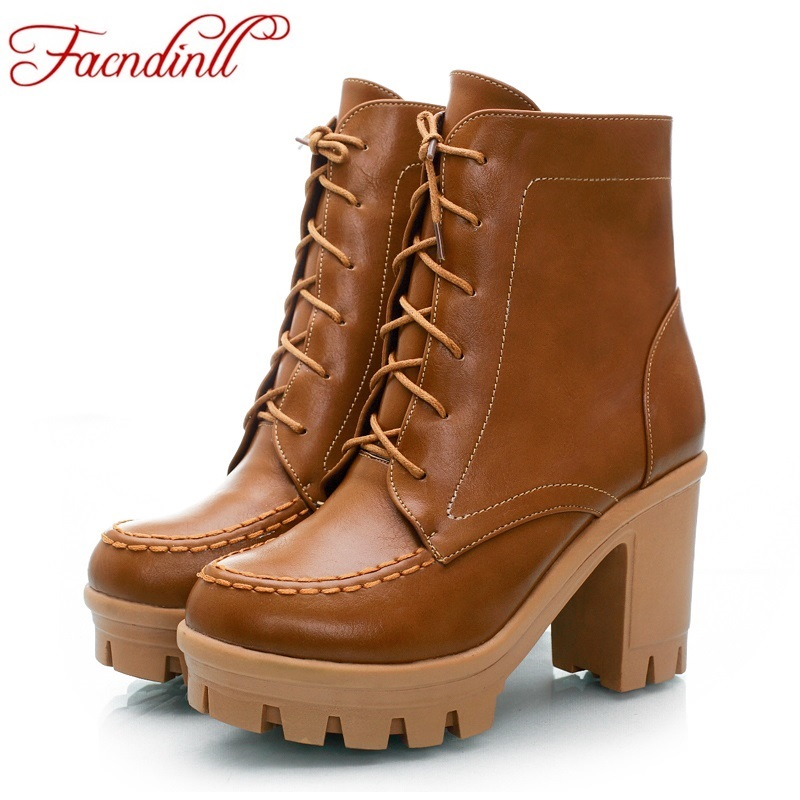 FACNDINLL autumn winter ankle boots fashion platform boots women boots sexy high heels lace up casual pumps ladies shoes woman winter autumn high quality pu high heels women sexy v mouth high top high heeled shoes ladies stiletto pumps ankle boots woman