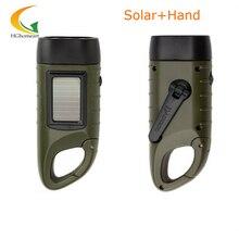 rechargeable batteries Hand Crank led flashlights solar flashlight camping light high quality portable work light
