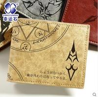 Fate Grand Order Fate Stay Night Free Shipping Zero Saber Upscale Printing PU Short Wallet Man