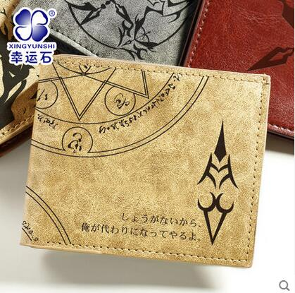 цена Fate Grand Order Fate/stay night Free shipping Zero Saber Upscale printing PU short Wallet man woman Leisure fashion Wallet