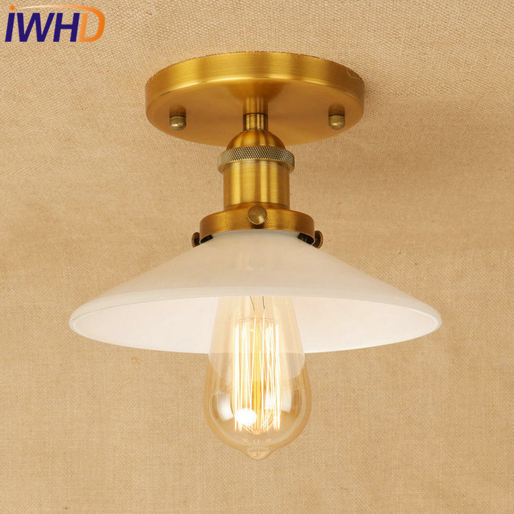 IWHD Loft Style Edison Industrial LED Ceiling Lamp Antique Iron Glass Vintage Ceiling Light Fixtures Home Lighting Luminaria retro loft style mirror glass iron vintage ceiling light fixtures edison industrial ceiling lamp antique lights home lighting