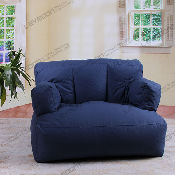 Free shipping extra large bean bag chairs 100 cotton canvas purple bean big bean bag chairs Extra large living room chairs