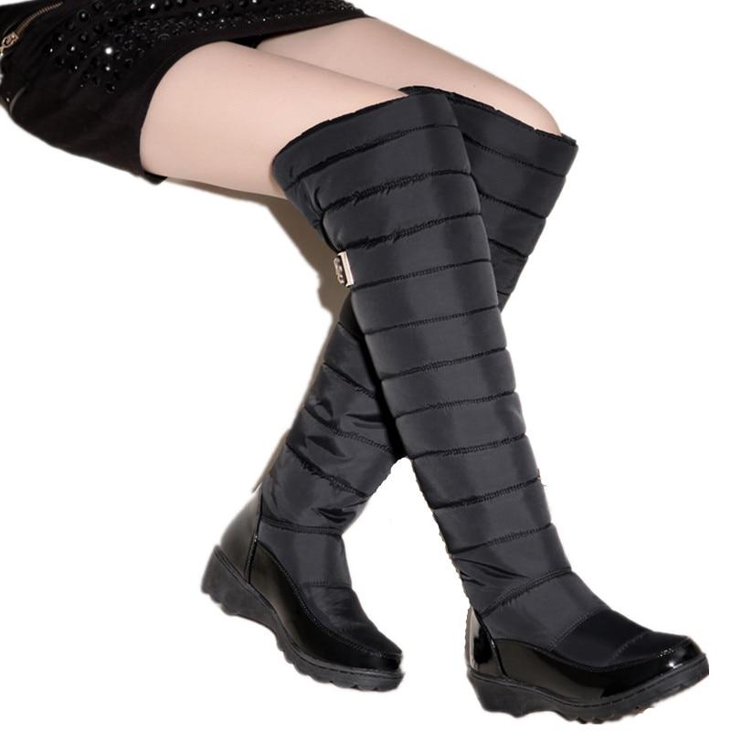 Cuir Épais Au Noir Bottes En bleu Chaussures Genou Taille Neige Fourrure Bleu Chaud Pour Garder Haute Verni Femmes Mode Plus Asumer Nouveau De Hiver 8TxIOBq