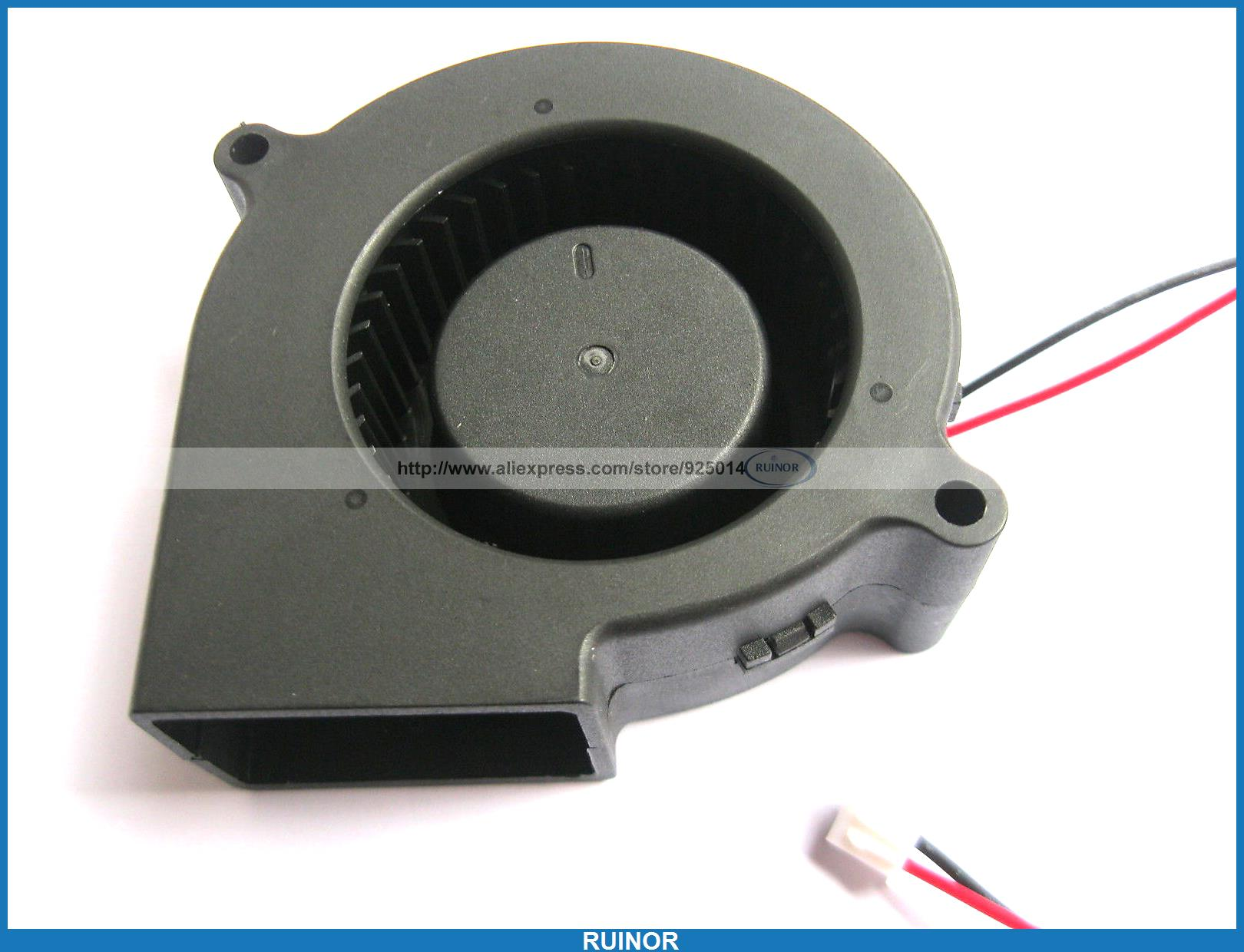ФОТО 6 Pcs Brushless DC Cooling Blower Fan 7530s 12V 75x30mm