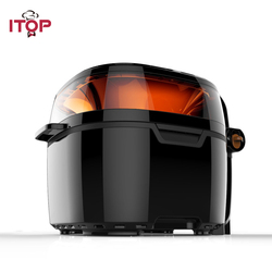 ITOP Big Capacity 10L Air Fryers Pizza Chicken French Fries Oil Free Frying Machine Commercial Electric Deep Fryers 220V