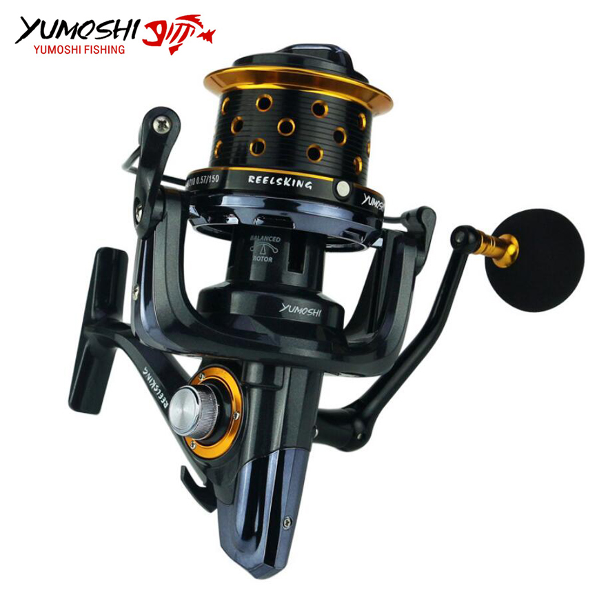 Long Shot Casting Reel 14+1BB Big Spinning Reel Fishing Reel For Carp Sea Fishing carretilha 8000 9000 10000 fddl 9000 10000 large long shot fishing wheel 12 1bb 4 9 1 full metal line cup spinning reel fishing reel carretilha para pesca