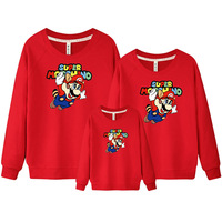 Matching Mother Daughter Clothes Family Look Mommy And Me Clothing Cartoon Mama Long Sleeve Sweater Family