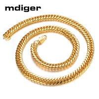 Mdiger 3 PCS LOT Fashion Copper Necklace Plating 18K Gold Pendant Long Chain Necklace Delicate Button