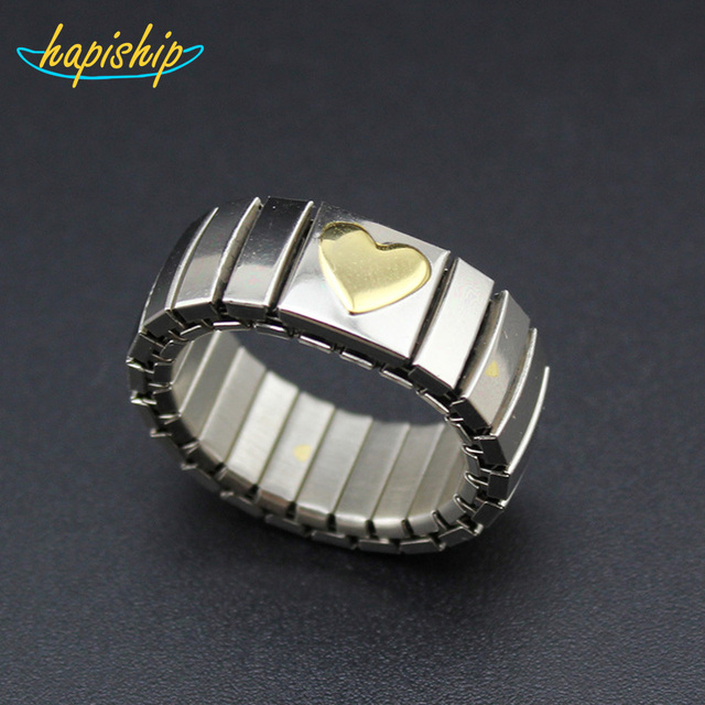 Hapiship New Men Women s Jewelry Silver Stainless Steel Gold Heart