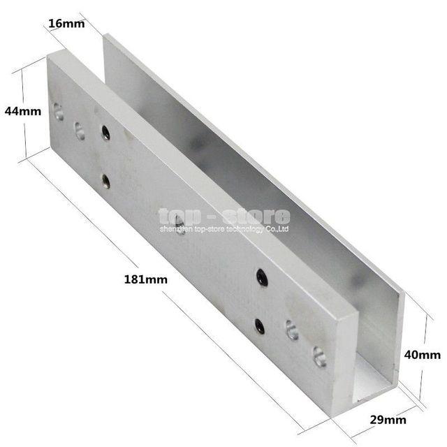 Diysecur 280kg Magnetic Lock U Shape Bracket For Frameless Glass Door Access Control System Kit