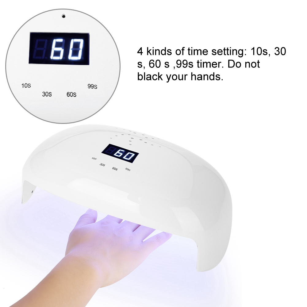 72W Powerful Nail Dryer UV LED 56 LEDs Nail Dryer For Curing Gel Polish Auto Sensing