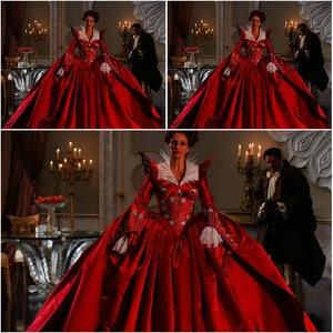 Histórico! 19 século vermelho vintage trajes 1860 s vitoriano guerra civil sul belle vestido scarlett vestidos us 4-36 C-057