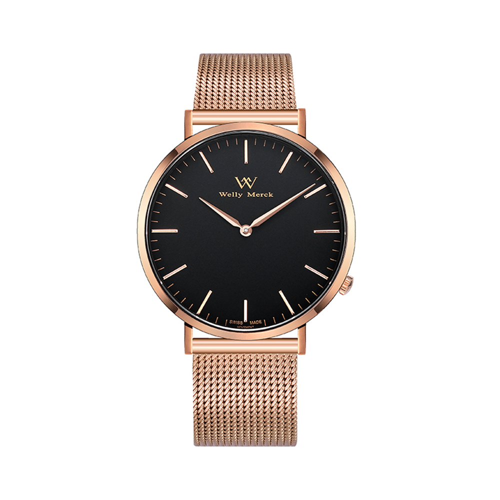 Welly Merck Women Luxury Watch with Rose Gold Stainless Steel цена и фото